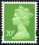 20p Bright Yellow-Green