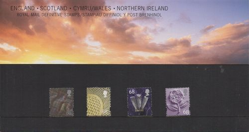 2002 Four Countries 68p Pack No 59