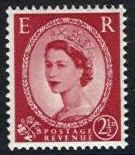 1958 Graphite 2½d Red