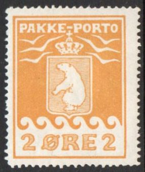 1915 Pakke Porto 2ø Yellow (Mint)