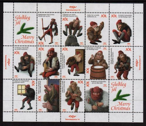 1999 Christmas Goblin Labels