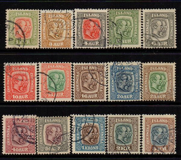 1907/8 Double Heads Used Set