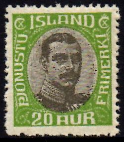 1920/30 Official 20a Yellow-green
