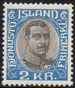1920/30 Official 2 Kr Blue