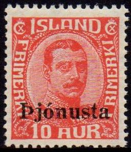 1936 10a Red Official Overprint
