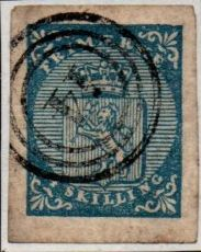1855 4sk Blue Numeral Cancel [1003]