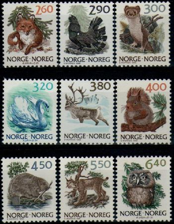 1988 - 91 Wildlife Set (9v)