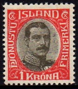 1920/30 Official 1 Kr Red