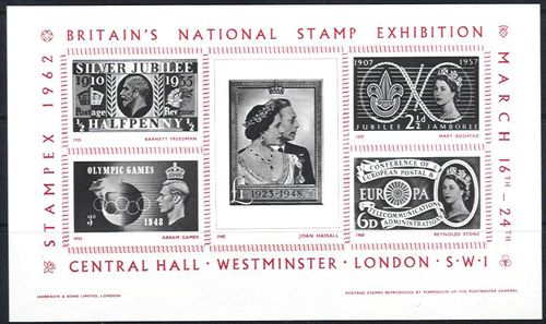 GB 1962 Stampex Souvenir Sheet