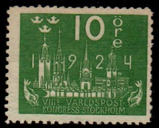 1924 U. P. U. Congress 10ø Watermark (M/M)
