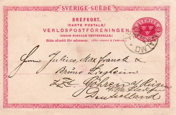 1899 Postal Stationary - Card