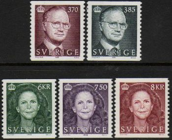1995-97 King Carl XVI Gustav and Queen Silvia