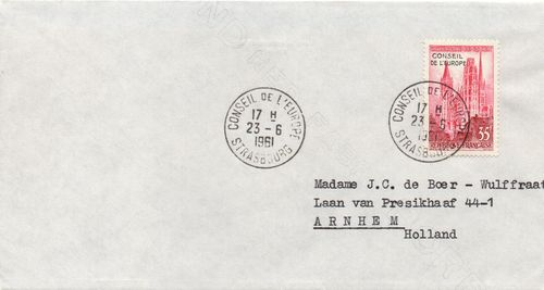 1961 Council of Europe Overprint Cover