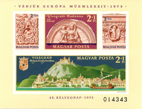 1975 Monuments in Visegrád Palace (Imperf. M/S)